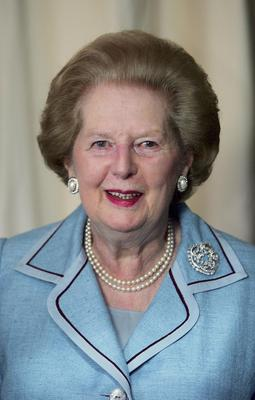 LONDON - 2006: (FILE PHOTO)  Baroness Margaret Thatcher, 85, Britain's Prime Minister from 1979 to 1990, Reports on April 8, 2013 state that Baroness Thatcher has died following a stroke.. Please refer to the following profile on Getty Images Archival for further imagery.  http://www.gettyimages.com/Search/Search.aspx?EventId=108930459&EditorialProduct=Archival   Former British Prime Minister Margaret Thatcher poses next to a recently created portrait of herself on August 1, 2006 in London, England. Baroness   (Photo by Scott Barbour/Getty Images)