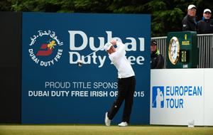 NEWCASTLE, NORTHERN IRELAND - MAY 30:  Matt Ford of England tees off on the 1st hole during the Third Round of the Dubai Duty Free Irish Open Hosted by the Rory Foundation at Royal County Down Golf Club on May 30, 2015 in Newcastle, Northern Ireland.  (Photo by Ross Kinnaird/Getty Images)