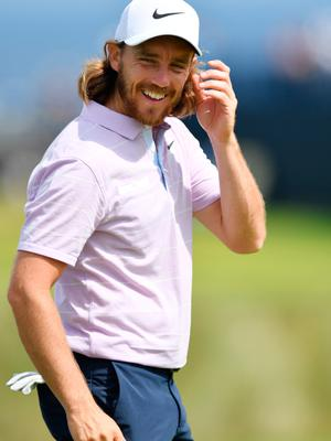 PORTRUSH, NORTHERN IRELAND - JULY 15: Tommy Fleetwood of England looks on  during a practice round prior to the 148th Open Championship held on the Dunluce Links at Royal Portrush Golf Club on July 15, 2019 in Portrush, United Kingdom. (Photo by Stuart Franklin/Getty Images)