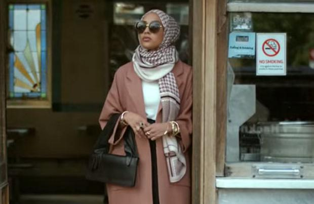 Photo from H&M's new campaign ad, Close the Loop, featuring the first hijab-wearing model.