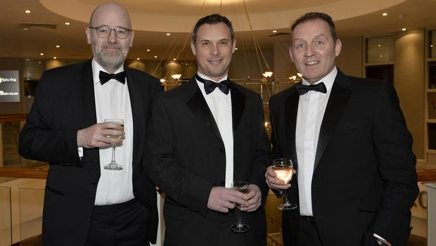 Press Eye - Belfast - Northern Ireland - 20th January  2020  Brian Whyte,Richard Heasley  and Peter Topping pictured at the 2019 Belfast Telegraph Sport Awards at the Crowne Plaza Hotel in Belfast. Photo by Stephen Hamilton / Press Eye.