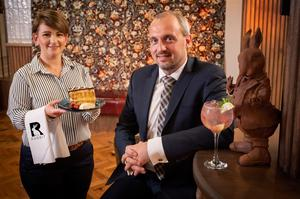 The Rabbit restaurant manager, Arlene Curran with managing director, Colin Johnston