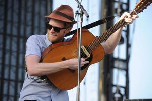INDIO, CA - APRIL 14:  Musician Wesley Schultz of the band The Lumineers performs onstage during day 3 of the 2013 Coachella Valley Music & Arts Festival at the Empire Polo Club on April 14, 2013 in Indio, California.  (Photo by Kevin Winter/Getty Images for Coachella)