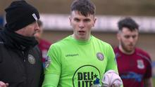 Warrenpoint Town goalkeeper Mark Byrne