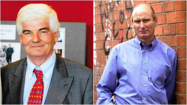Odd couple: Kevin Boyle in 2008 (l) and former PUP Assemblyman Billy Hutchinson (r)