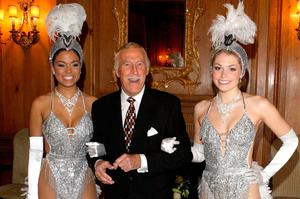 Bruce Forsyth joined by Miss Puerto Rico (left) and Miss England to celebrate his 80th birthday at the Dorchester Hotel in London. Anthony Devlin/PA Wireholder.