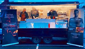 Hellbent's food truck in action at Kingspan Stadium