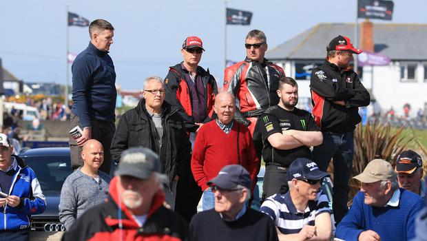 Pacemaker Belfast 12-5-18 Vauxhall International North West 200 -  supersport race Some of the crowd at Black Hill during today's  supersport race at the Vauxhall International North West 200 in Portrush.  Photo by David Maginnis/Pacemaker Press