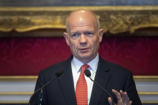 Lord Hague has warned that tax rises will be required following a year of heavy borrowing (Victoria Jones/PA)