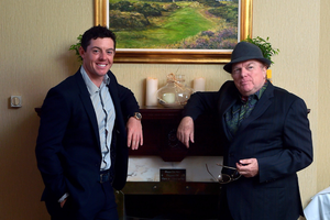 With Rory McIlroy ahead of the 2015 Irish Open at Royal County Down, hosted by the Holywood golfer.