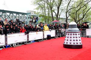 A dalek arriving for the 2013 Arqiva British Academy Television Awards at the Royal Festival Hall, London. PRESS ASSOCIATION Photo. Picture date: Sunday May 12, 2013. See PA story SHOWBIZ Bafta. Photo credit should read: Ian West/PA Wire