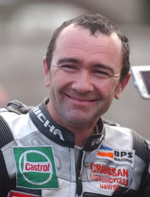 PACEMAKER, BELFAST, 27/5/2002:  Little wonder he's smiling!  Robert Dunlop topped the 125cc practice times during early morning practice at the Isle of Man TT this morning. PICTURE BY STEPHEN DAVISON