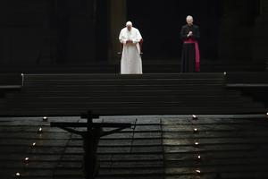 Pope Francis in St Peter's Square (Alessandra Tarantino/AP)