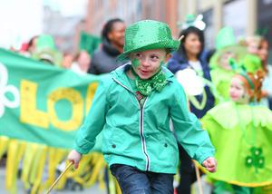 Picture - Kevin Scott / Presseye  Tuesday 17th March 2015 - St Patricks' Day Celebrations 2015 - Belfast  Pictured is St Patricks' day celebrations in Belfast that take place in front of a crowed of thousands who have lined the streets amid the celebrations  Picture - Kevin Scott / Presseye