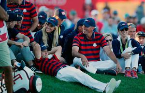 USA's Matt Kuchar during the Fourballs on day two of the 41st Ryder Cup at Hazeltine National Golf Club in Chaska, Minnesota, USA. Peter Byrne/PA Wire.