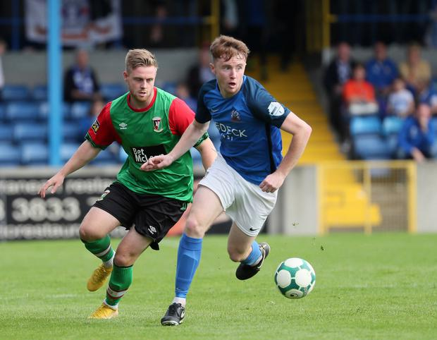 Glenavon's Caolan Marron was named Man of the Match against Glentoran.