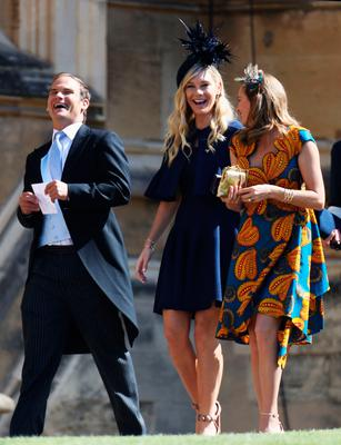 Chelsy Davy (centre) arrives at Windsor Castle for the wedding of Prince Harry and Meghan Markle. PRESS ASSOCIATION Photo. Picture date: Saturday May 19, 2018. See PA story ROYAL Wedding. Photo credit should read: Chris Jackson/PA Wire