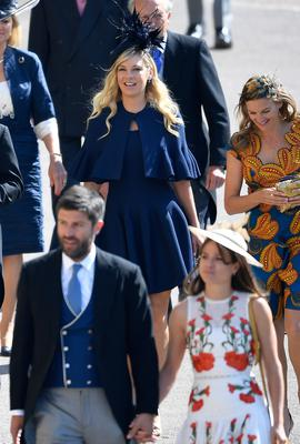 WINDSOR, UNITED KINGDOM - MAY 19:  Chelsy Davy arrives at St George's Chapel at Windsor Castle before the wedding of Prince Harry to Meghan Markle on May 19, 2018 in Windsor, England. (Photo by Toby Melville- WPA Pool/Getty Images)