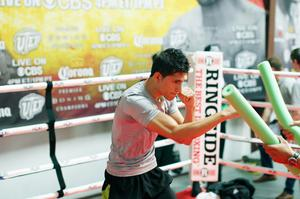 Press Eye - Belfast -  Northern Ireland - 15th July 2015 - Boxer Alejandro Gonzalez Jr is pictured during an open training session in El Paso, Texas before looking to take away Carl Frampton's championship on Saturday evening.  Picture by Jorge Salgado / Press Eye