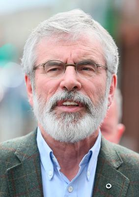 Sinn Fein's party president Gerry Adams speaking outside Sinn Fein offices on the Falls Road in Belfast after the party emerged with seven MPs following the General Election. PA