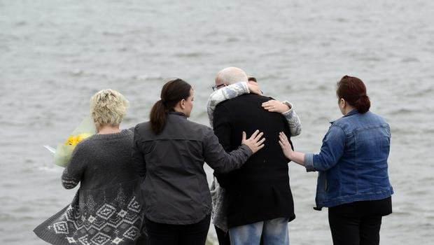 The scene at the pier in Buncrana Co Donegal. Picture Colm Lenaghan/  Pacemaker