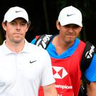 Rory McIlroy and caddy Harry Diamond