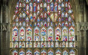 The project restores the largest expanse of medieval stained glass in the country (Danny Lawson/PA)