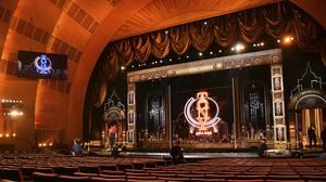 A view of the stage prior to the start of the Tony Awards at Radio City Music Hall in New York last year (Charles Sykes/Invision/AP)