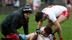 Tyrone's Cathal McShane picks up an injury, but he is soon to return.