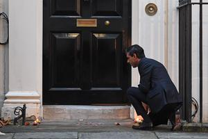 Chancellor of the Exchequer Rishi Sunak marked Diwali in Downing Street (Stefan Rousseau/PA Wire)