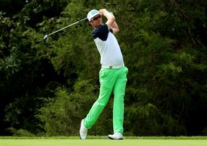 LOUISVILLE, KY - AUGUST 07: Mikko Ilonen of Finland hits his tee shot on the 18th hole during the first round of the 96th PGA Championship at Valhalla Golf Club on August 7, 2014 in Louisville, Kentucky.  (Photo by Andrew Redington/Getty Images)