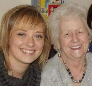 Mairia Cahill and her late grandmother, Nora