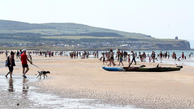 Press Eye - Weather Pictures - Portstewart Beach - 30th June 2018  Photograph by Declan Roughan