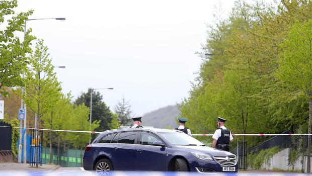 Press Eye - Belfast - Northern Ireland - 14th May 2018  The scene on the Springfield Road in west Belfast were a security alert is underway.   Picture by Jonathan Porter/PressEye