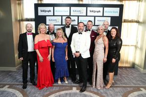 Press Eye - Belfast - Northern Ireland - 2nd May 2019 -   Staff from Vantage Health and Life pictured at the Belfast Telegraph Business Awards in association with Ulster Bank at the Crowne Plaza Hotel, Belfast. Photo by Kelvin Boyes / Press Eye.