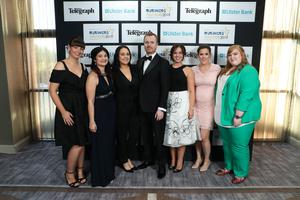Press Eye - Belfast - Northern Ireland - 2nd May 2019 -   Staff from Rapid 7 pictured at the Belfast Telegraph Business Awards in association with Ulster Bank at the Crowne Plaza Hotel, Belfast. Photo by Kelvin Boyes / Press Eye.