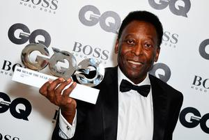 Pele with his Inspiration award during the GQ Men of the Year Awards 2017 held at the Tate Modern, London. PRESS ASSOCIATION Photo. Picture date: Tueday September 5th, 2017. Photo credit should read: Ian West/PA Wire