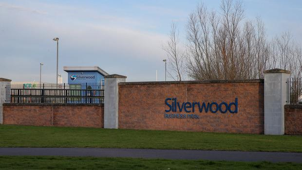 Silverwood Business Park, where an explosive device was made safe.  Picture: Philip Magowan / PressEye