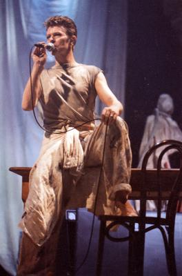 David Bowie at the Kings Hall. 3-12-1995. Pic Belfast Telegraph archives