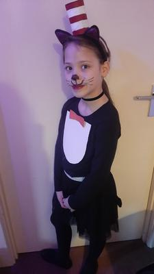 Faith Baker from Crumlin Co. Antrim. Age 8 Dressed as Cat in the Hat