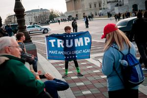 WASHINGTON, DC - JANUARY 19: on the West Front of the U.S. Capitol, January 19, 2017 in Washington. DC. Trump will be inaugurated as the 45th U.S. President on Friday. (Photo by Drew Angerer/Getty Images)