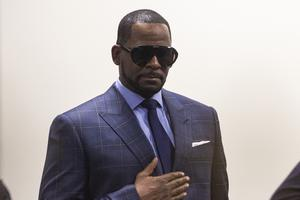 R Kelly was jailed after a hearing in his child support case (Ashlee Rezin/Chicago Sun-Times/AP)