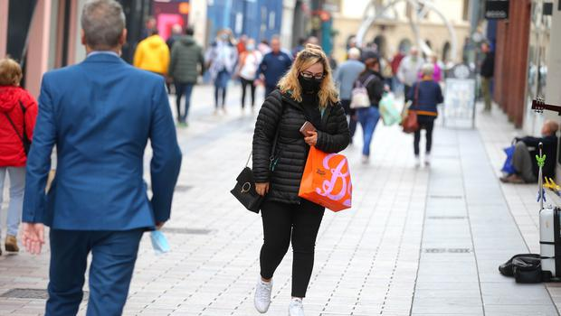 General view shoppers in Belfast City Centre. Picture by Jonathan Porter / PressEye