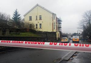 The Sirhowy Arms Hotel in Argoed, Blackwood, south Wales, where a man and a woman died after police were called to deal with reports of an assault.