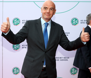 Big plans: Gianni Infantino wants another 16 teams for 2026. Photo: Martin Rose/Bongarts/Getty Images