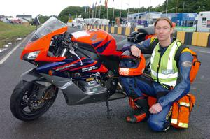 Dr John Hinds who was killed in a crash during Skerries 100 practice session. Photo: Stephen Davison