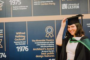 Pictured at the Ulster University Summer Graduations 2018 at Coleraine is Chloe Drum graduating in Psychology. Picture John Murphy Aurora PA.