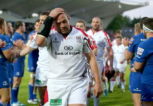 So near yet so far: A gutted Rory Best leaves the field on Saturday