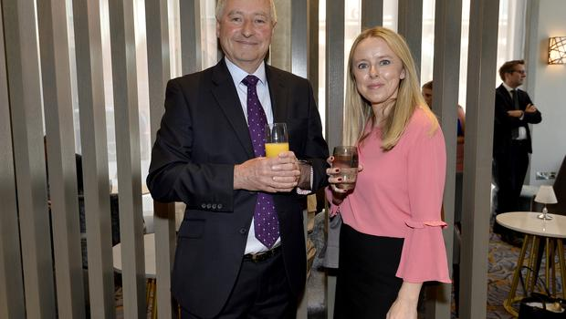 17th May 2018 Jeff Woods and Katie McClean pictured at the Grand opening of the new Maldron Hotel in Brunswick street in Belfast  Mandatory Credit: Presseye/Stephen Hamilton
