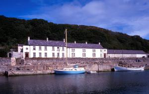 The Manor House Guesthouse there are 12 bedrooms most are en-suite with stunning views over the harbour and the North antrim Coest